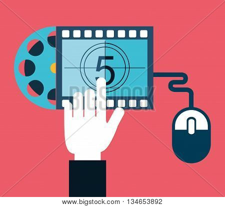 movie online design, vector illustration eps10 graphic