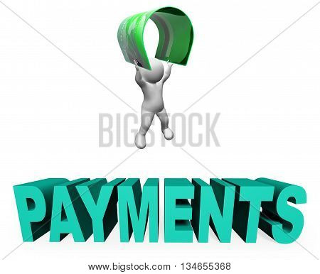 Credit Card Payments Means Paying Illustration And Remittance