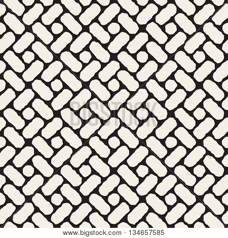 Vector Seamless Hand Drawn Rectangles Geometric Pavement Pattern