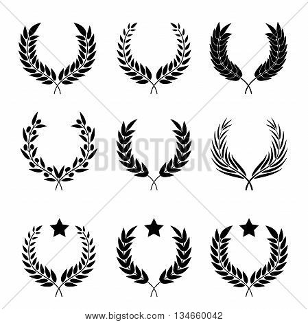 vector set of different styles of wreaths