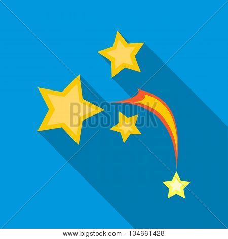 Stars in space icon in flat style with long shadow. Space symbol