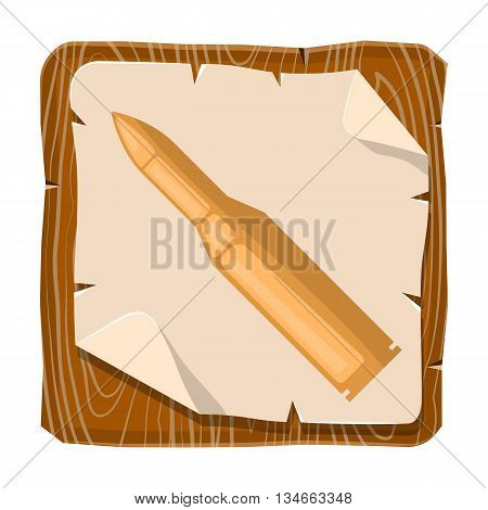 Bullet colorful icon. Vector illustration in cartoon style
