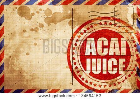 acai juice