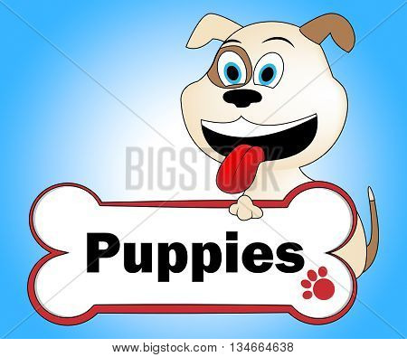 Puppies Dog Means Pedigree Canines And Puppy