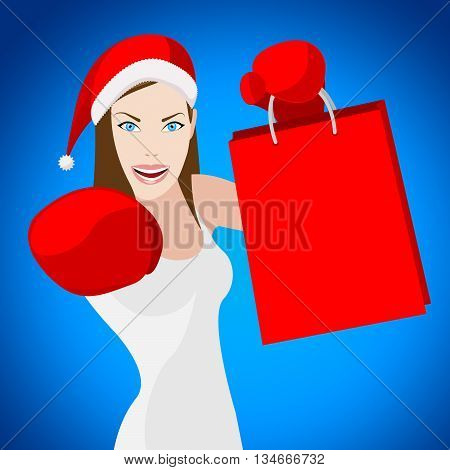 Christmas Shopping Indicates Retail Sales And Adult