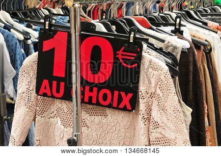 Aix en Provence France - april 21 2016 : dress at the cours Mirabeau market