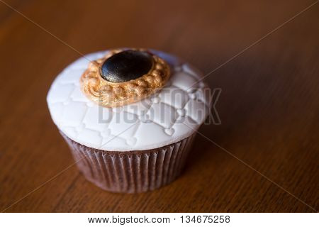 Decorated Cupcake With Icing