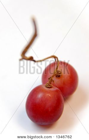 Gred grapes on an isolated white