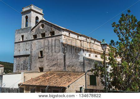 Old architecture in Polenca, Mallorca. Private school