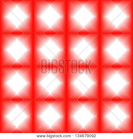 Tiles made of red diamond. Red white pattern of lozenges for texture or background of the hall or living room.
