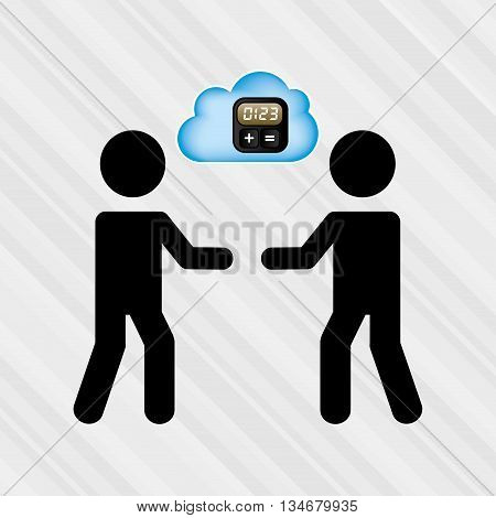 cloud computing design, vector illustration eps10 graphic