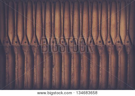 texture/background: antique wooden cigar press, retro filter