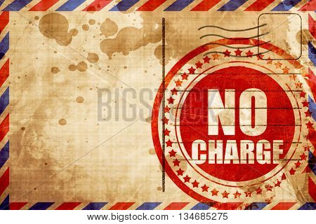 no charge