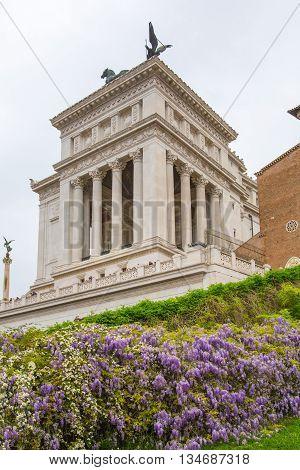 ROME, ITALY - APRIL 9, 2016: Altar of the Fatherland (Altare della Patria) 1925. Piazza Venezia . Vittorio Emanuele II in Rome, Italy