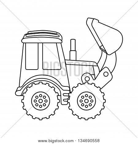 excavator machine design, vector illustration eps10 graphic