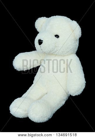 Image of toy teddy bear on black background