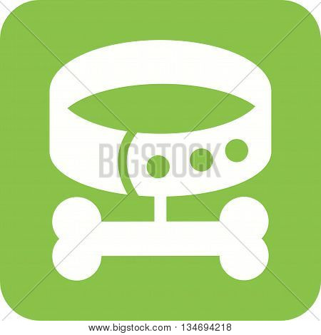 Dog, leash, bone icon vector image. Can also be used for pet shop. Suitable for use on web apps, mobile apps and print media.