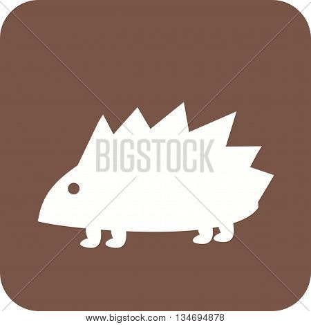 Hedgehogs, cute, pet icon vector image. Can also be used for pet shop. Suitable for mobile apps, web apps and print media.