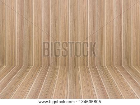 Perspective lines of wooden floor stock photo