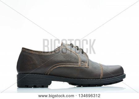 Side Brown Shoe