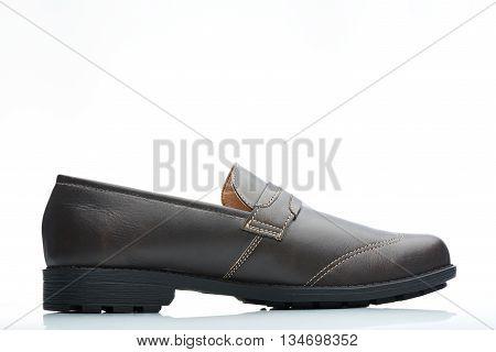 Dark Brown Side View Shoe