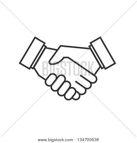 Business agreement handshake vector icons. Agreement symbol partnership handshake, icon agreement deal illustration