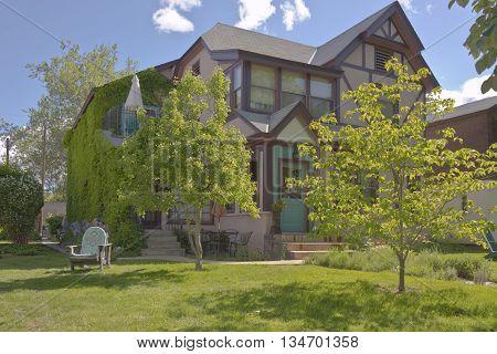 Urban home and garden in Boise Idaho.