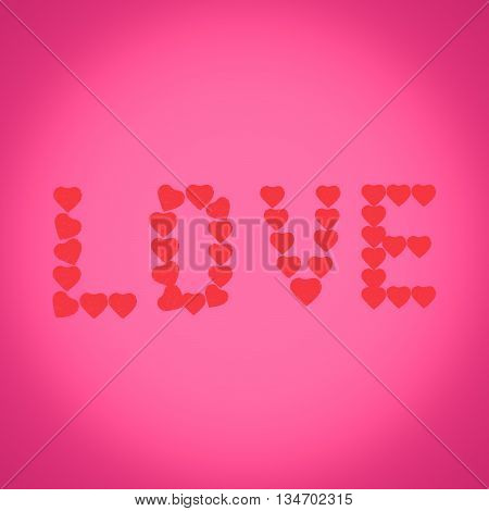 Abstract love heart background, Happy Valentine's Day