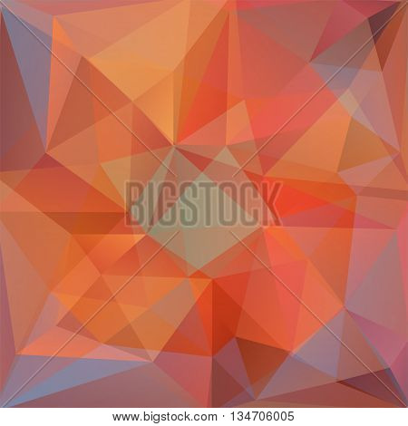 abstract orange background, square simple vector illustration
