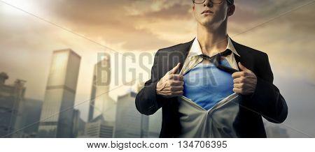Under the business suit