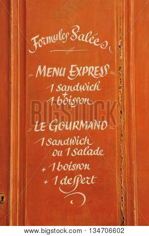 Aix en Provence France - april 21 2016 : a bakery