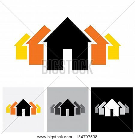 House ( Home ) & Residence Sign For Real Estate - Vector Logo Icon