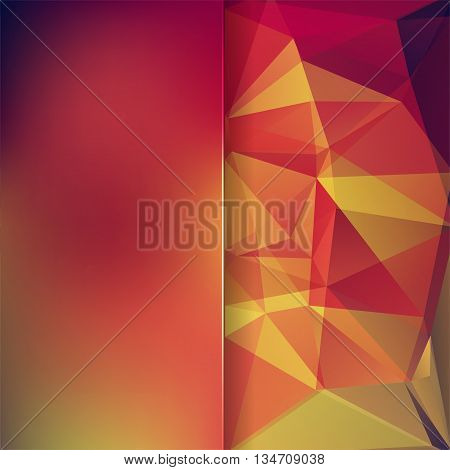 abstract background with polygon triangles, simple vector illustration