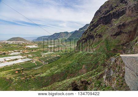View on northern part of Tenerife island from Mirador de la Monja Spain