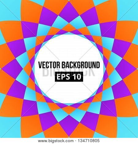 Colorful geometric abstract background. Vector, eps 10.