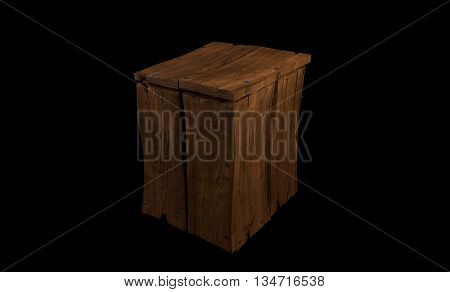 old vintage antique funny cartoon wooden box