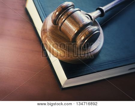 Legal law concept image.  Gavel and book