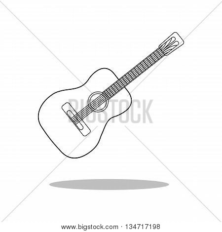 Guitar Icon Vector. Musical Instrument Silhouette