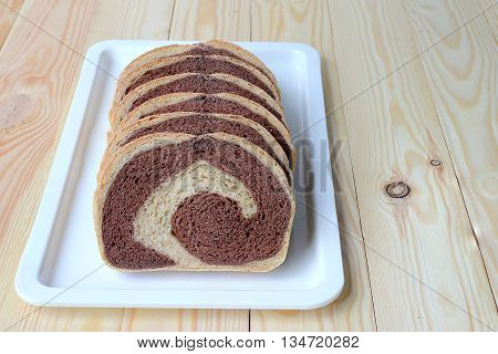 Freshly Bread, Whole Wheat Bread Baked At Home Very Healthy, Two Tone Rye Bread.