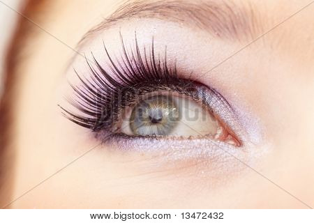 Woman eye with  fashion make-up