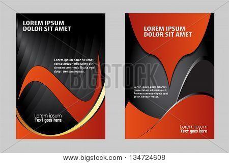 Brochure Flyer design template vector. booklet catalog brochure folder