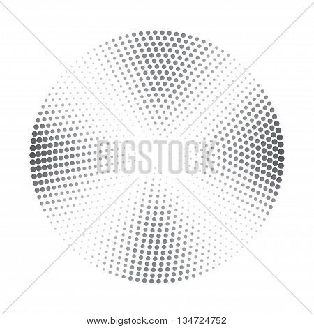 Vector abstract halftone background with dark grey segments. Halftone element for your design. Isolated on white stock vector.