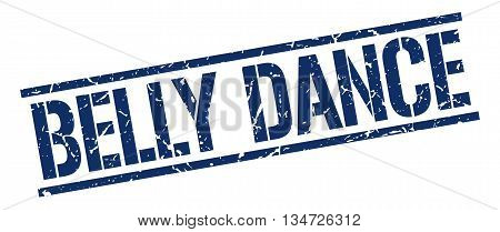 Belly Dance Stamp. Vector. Stamp. Sign. Belly.dance. Blue.