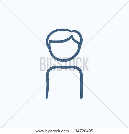 Businessman vector sketch icon isolated on background. Hand drawn Businessman icon. Businessman sketch icon for infographic, website or app.