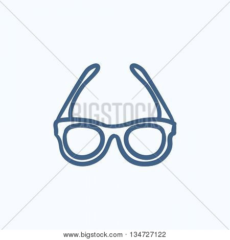 Glasses sketch icon for web, mobile and infographics. Hand drawn glasses icon. Glasses vector icon. Glasses icon isolated on white background.