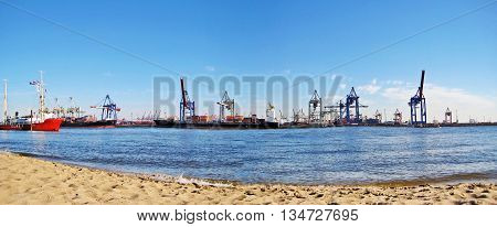 Hamburg Harbor / Port Panorama, Germany
