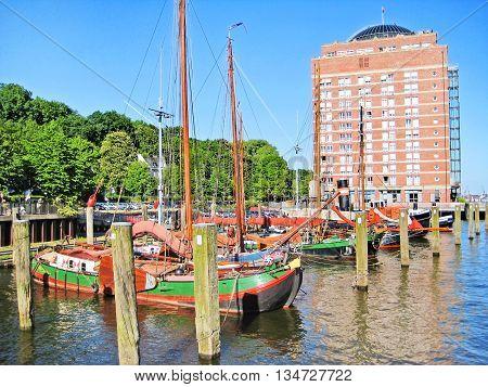 Hamburg, Germany - Museum Harbor Oevelgonne