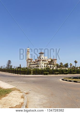 Montaza Palace in Alexandria , north Egypt.