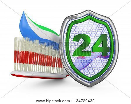 Toothbrush And A Shield