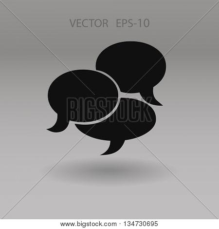 Flat  icon of a communication